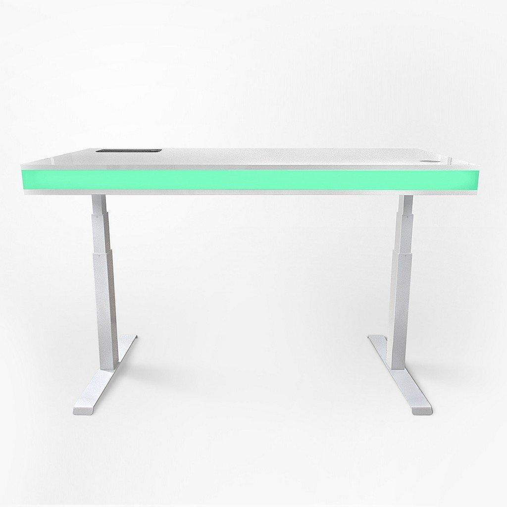 un bureau qui adapte automatiquement sa hauteur la votre en plus il y a des petites led topito. Black Bedroom Furniture Sets. Home Design Ideas