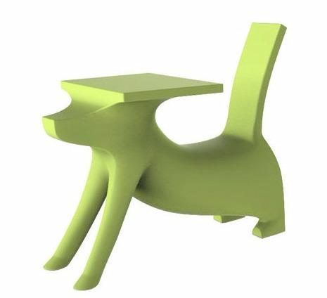 Bureau enfant Le Chien Savant - Assise intégrée Vert - Magis Collection Me Too