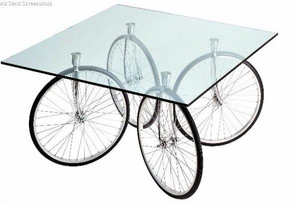 Tour Table Glass - Chrome by Fontana Arte