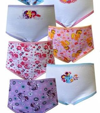 WebUndies.com My Little Pony Pinkie Pie and Friends 7 Pack Girls Panties