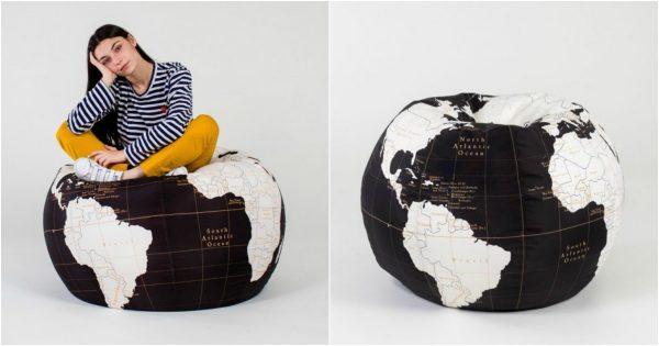 pouf globe