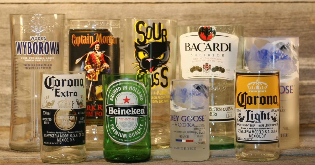 un kit pour faire des verres avec des bouteilles en verre de bi re de vin ou de vodka topito. Black Bedroom Furniture Sets. Home Design Ideas