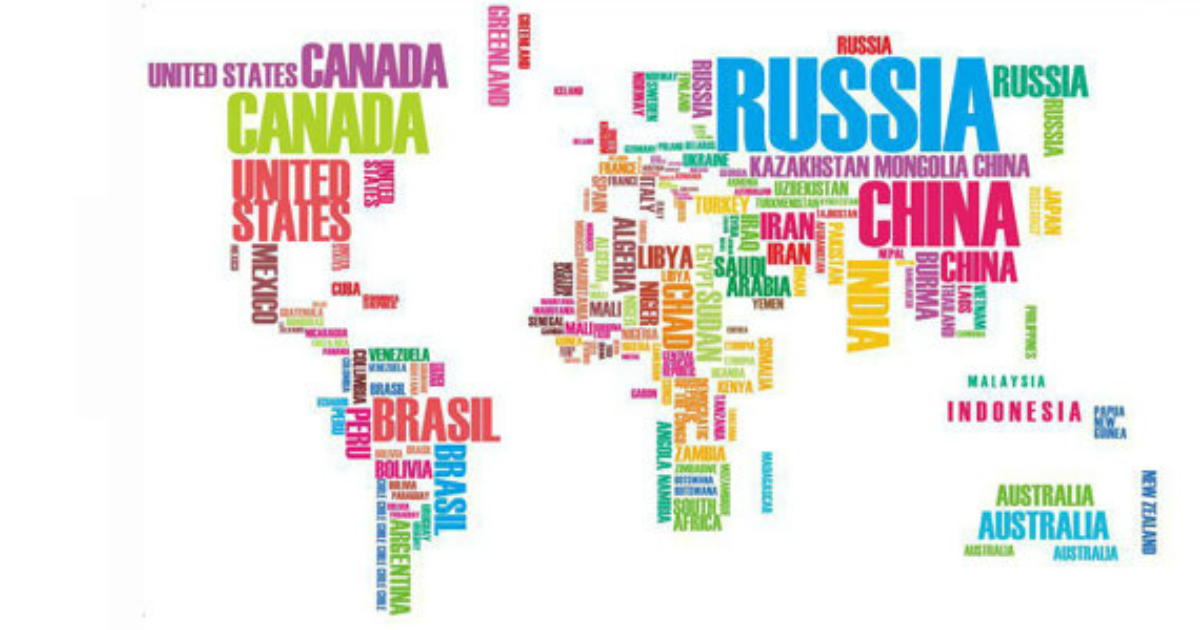 un autocollant carte du monde avec les pays crits en toutes lettres topito. Black Bedroom Furniture Sets. Home Design Ideas