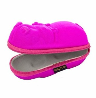 Sunproof - Des étuis pour lunettes de soleil pour enfant - hippopotame rose- Amazon.fr- Vêtements et accessoires