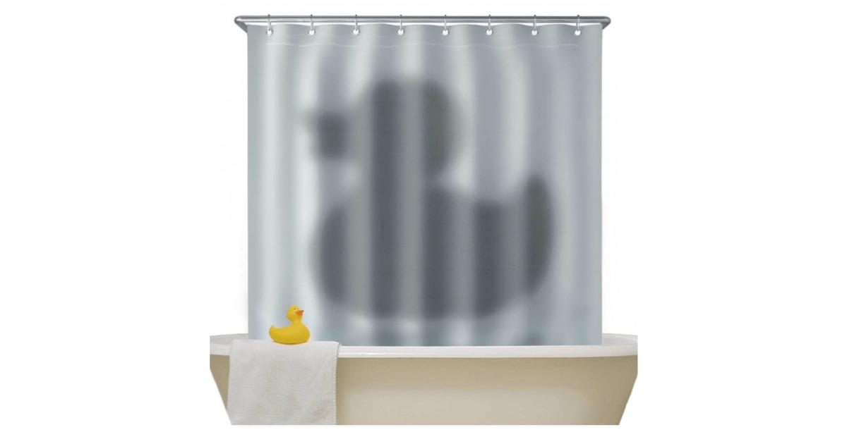 un rideau de psychose avec un canard topito