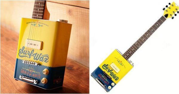 topitruc une guitare lectrique faite avec un baril de surf wax. Black Bedroom Furniture Sets. Home Design Ideas