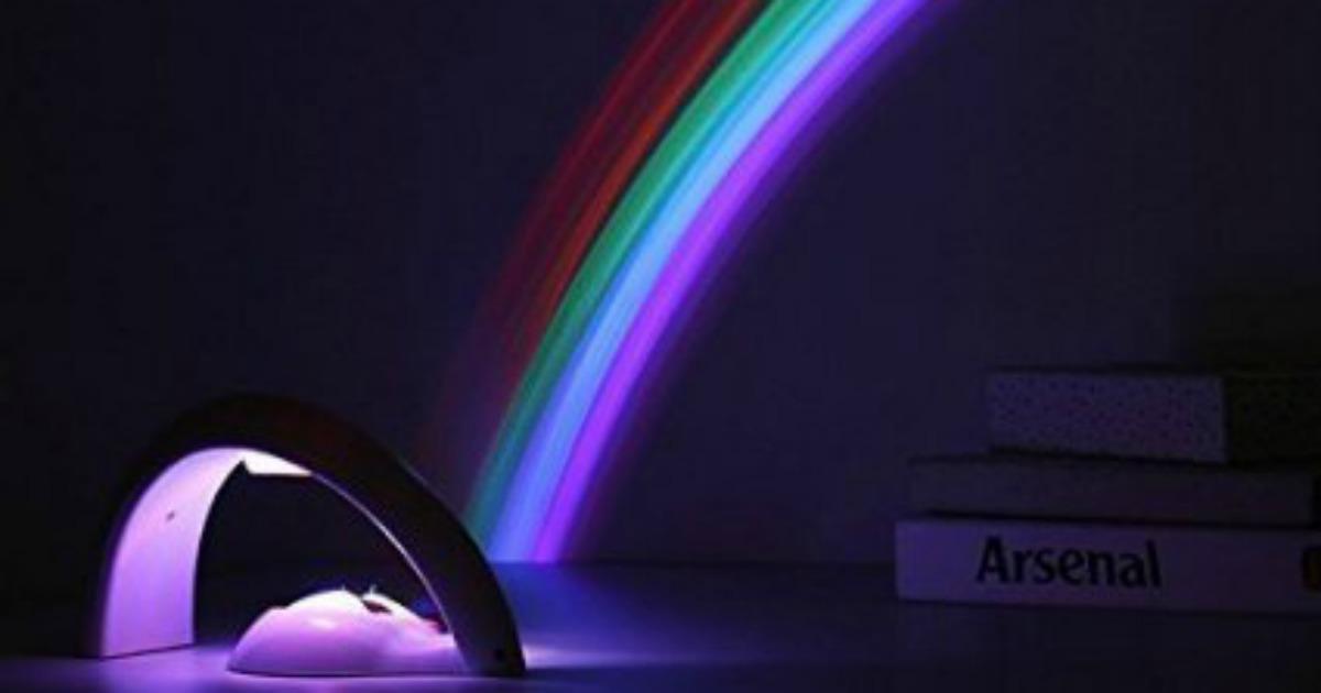 une lampe qui projette un arc en ciel topito. Black Bedroom Furniture Sets. Home Design Ideas