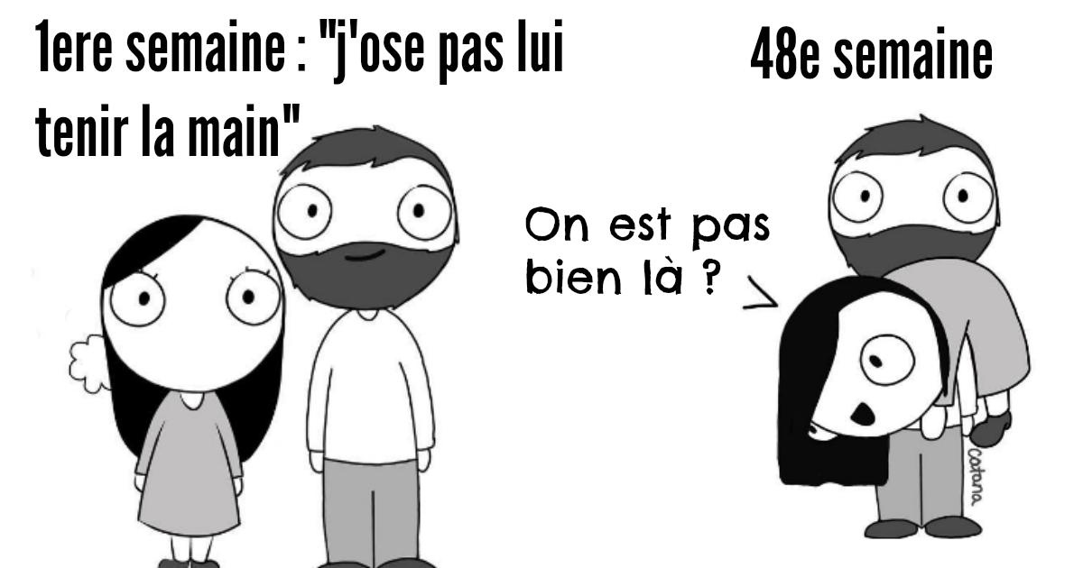 Top 9 Des Illustrations Sur Le Couple Par Catana L Amour Rend Niais