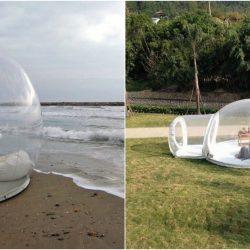Une tente bulle transparente topito - Tente bulle transparente ...