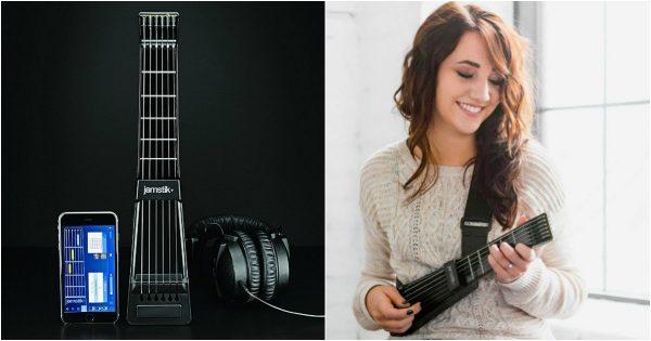 une guitare connect e qui n 39 a pas l 39 air d 39 une guitare mais qui a la chanson topito. Black Bedroom Furniture Sets. Home Design Ideas