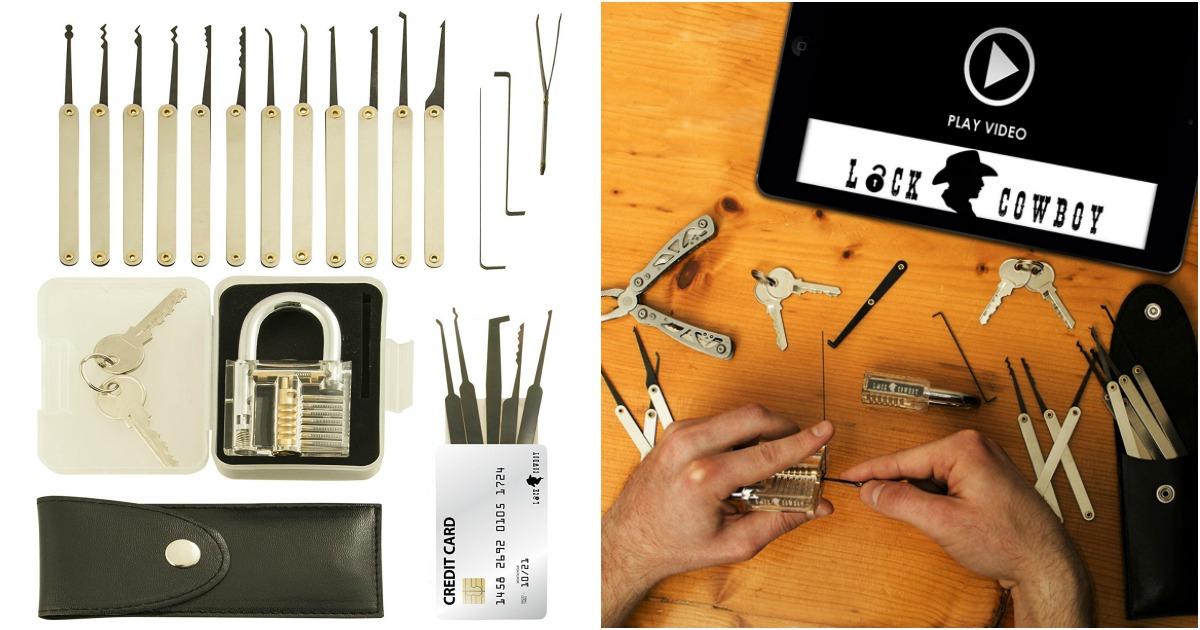 un kit pour apprendre crocheter des serrures topito. Black Bedroom Furniture Sets. Home Design Ideas
