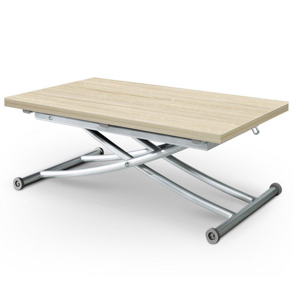 Une table basse escamotable qui fait donc aussi table for Table basse escamotable