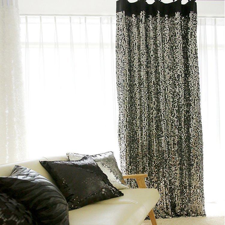 des rideaux paillettes topito. Black Bedroom Furniture Sets. Home Design Ideas