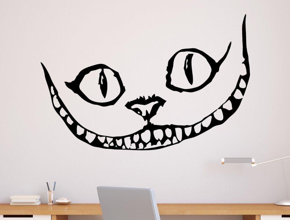 un sticker mural chat du chester d 39 alice au pays des merveilles topito. Black Bedroom Furniture Sets. Home Design Ideas