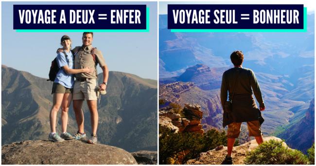 Top 20 des raisons de voyager seul(e), voilà, personne pour faire chier, merde !