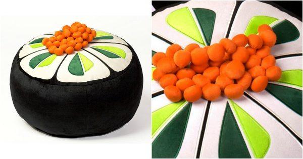un pouf maki au concombre enfin a doit avoir un autre nom mais on part du principe que c 39 est. Black Bedroom Furniture Sets. Home Design Ideas