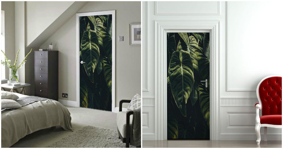 un autocollant pour transformer une porte en jungle topito. Black Bedroom Furniture Sets. Home Design Ideas