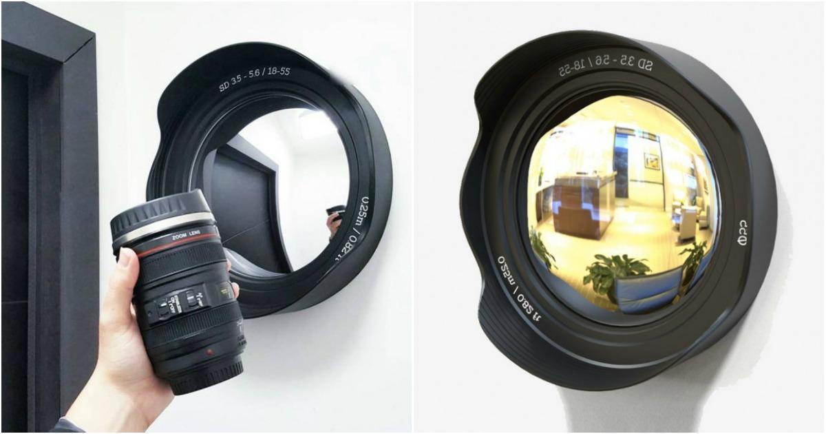 Un miroir en forme d 39 objectif photo topito for Objectif miroir