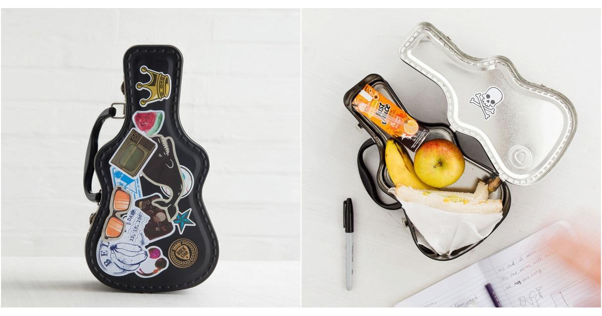 une lunch box guitare pour les musicos topito. Black Bedroom Furniture Sets. Home Design Ideas