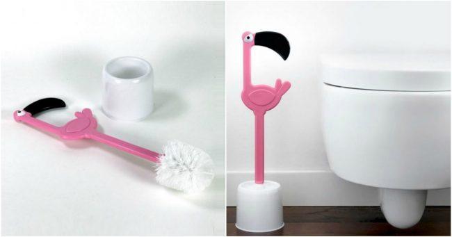 [TOPITRUC] Une brosse pour les toilettes flamant rose