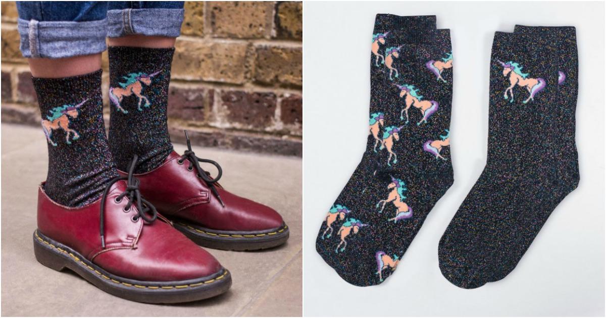 deux paires de chaussette paillette licorne topito. Black Bedroom Furniture Sets. Home Design Ideas