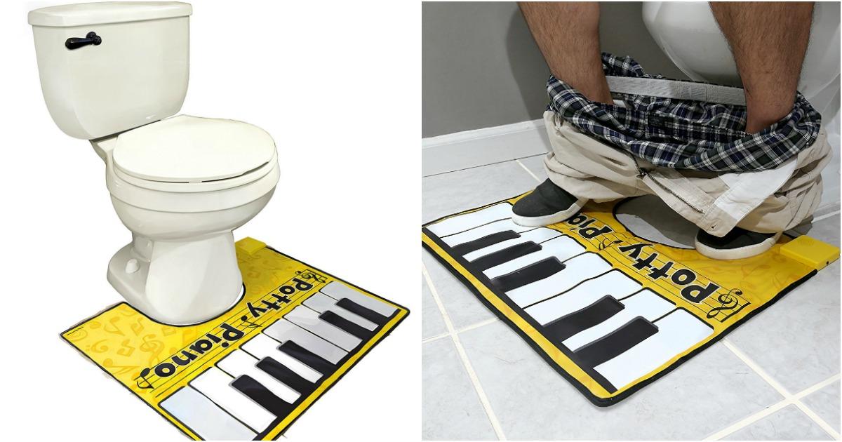 un tapis de wc pour jouer au piano topito. Black Bedroom Furniture Sets. Home Design Ideas
