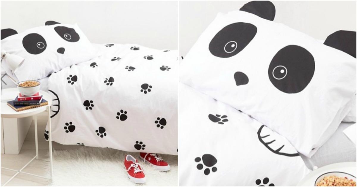 une parure de lit panda topito. Black Bedroom Furniture Sets. Home Design Ideas