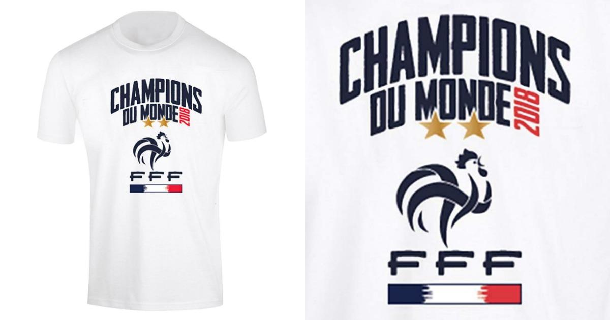Le T Shirt Officiel Champions Du Monde 2018 De La Fff