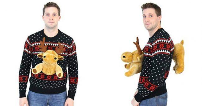 [TOPITRUC] Un pull de Noël avec un cerf en peluche