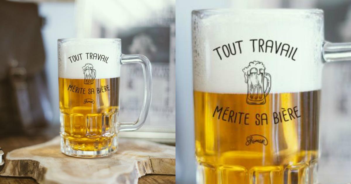une chope de bière « tout travail mérite sa bière », une philosophie