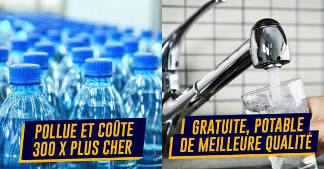 Top 10 des raisons d'arrêter d'acheter des bouteilles en plastique, l'eau du robinet vous connaissez ?