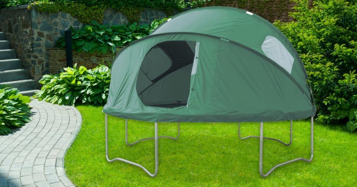 une tente pour trampoline pour sauter toute la nuit topito. Black Bedroom Furniture Sets. Home Design Ideas