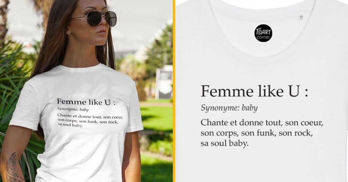 t-shirt femme like u