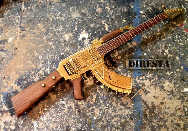 Deadly-AK-47-Assault-Rifle-Altered-Into-An-Golden-Guitar-1