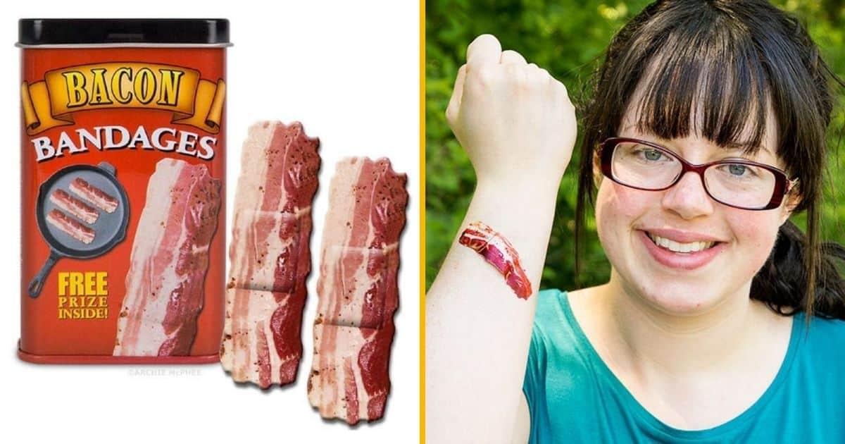Des pansements « Bacon », pour les gourmands blessés