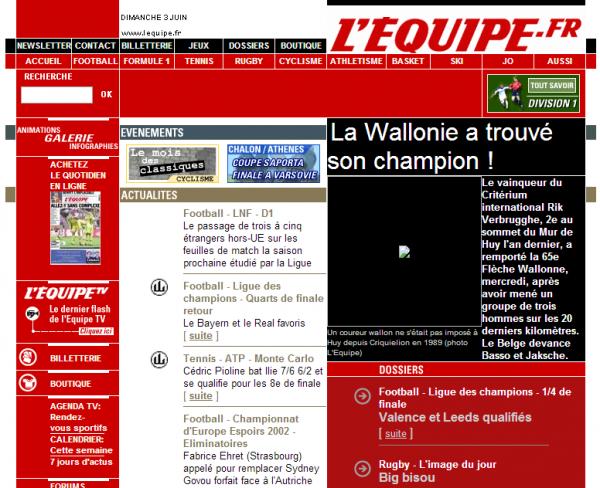L'EQUIPE.fr - l'actualité du sport