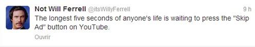 Not Will Ferrell (itsWillyFerrell) sur Twittek^d^vr