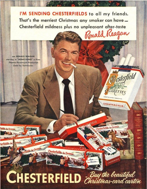 Christmas Ronald Reagan Chesterfield Ad