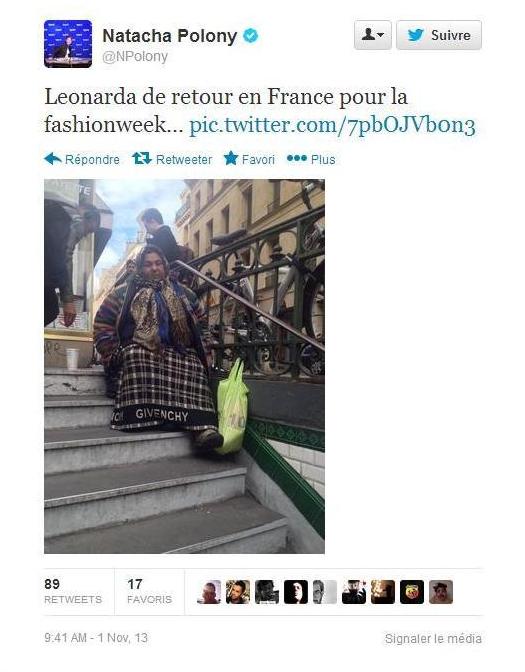 Tweet Leonarda