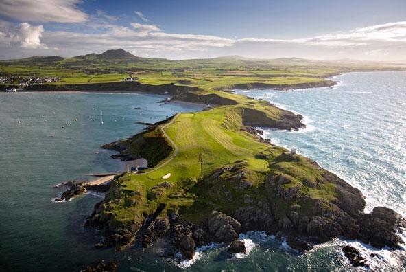 13th, 14th & 15th holes at Nefyn & District Golf Club, Pwllheli, Gwynedd, North Wales