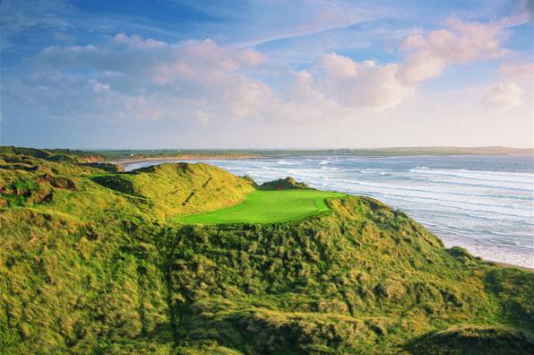 14th hole at Doonbeg Golf Club, County Clare, Ireland
