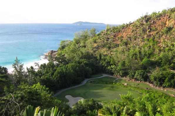 15th hole at Lemuria Resort, Praslin, Seychelles