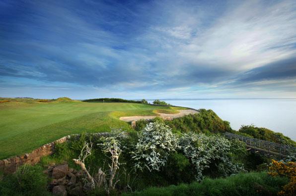 17th hole at Fairmont St. Andrews Kittocks Course, Fife, Scotland