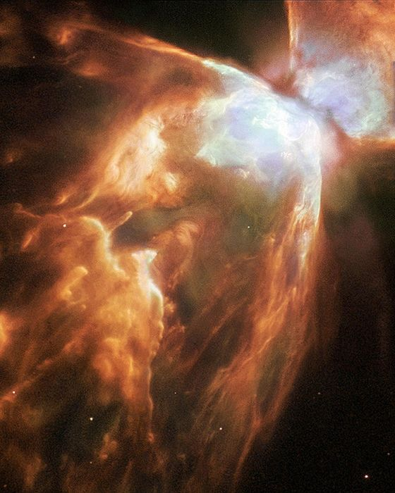 Dying Star Shrouded by a Blanket of Hailstones Forms the Bug Nebula_resultat