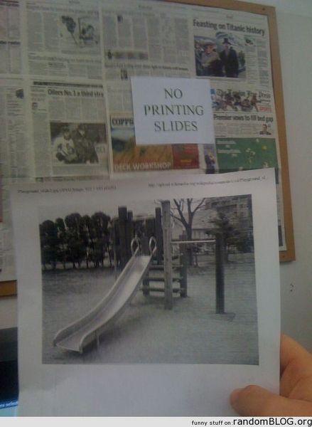 printing slides_resultat