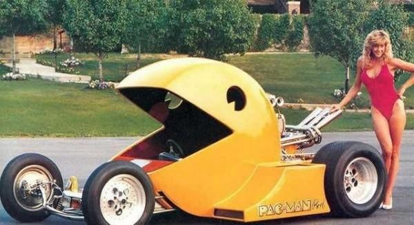 Pac-Man racecar