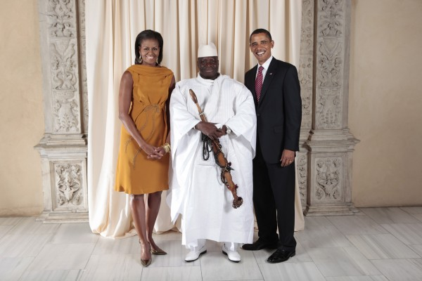 Yahya_Jammeh_with_Obamas