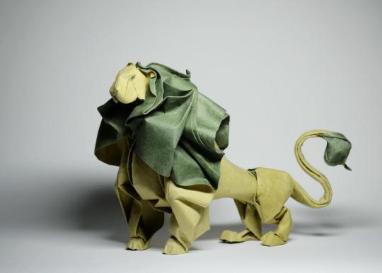 origami-lion
