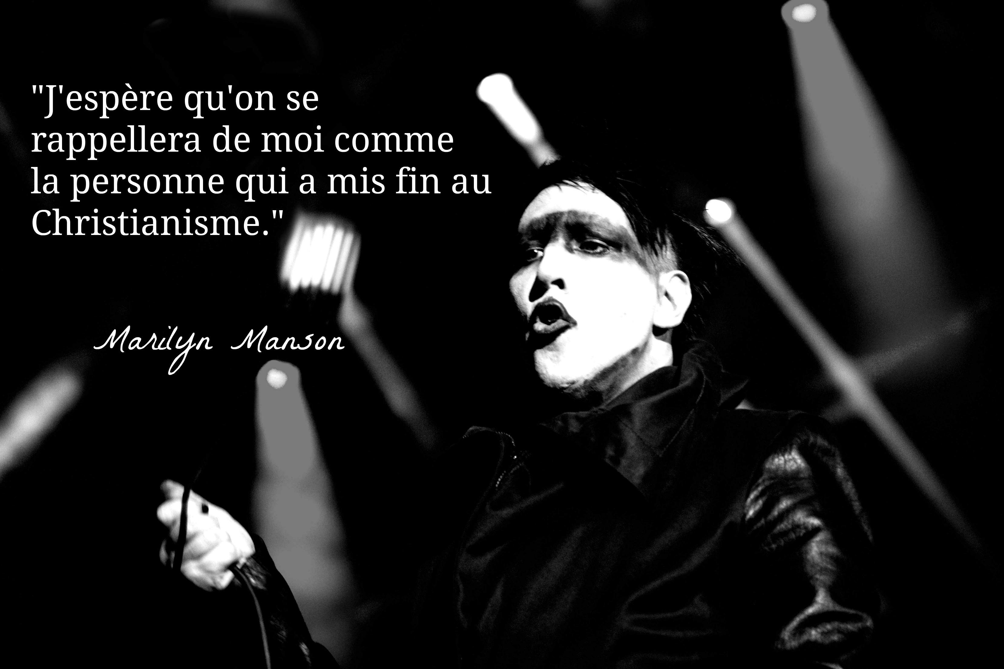 Top 10 des citations inspirantes de Marilyn Manson | Topito
