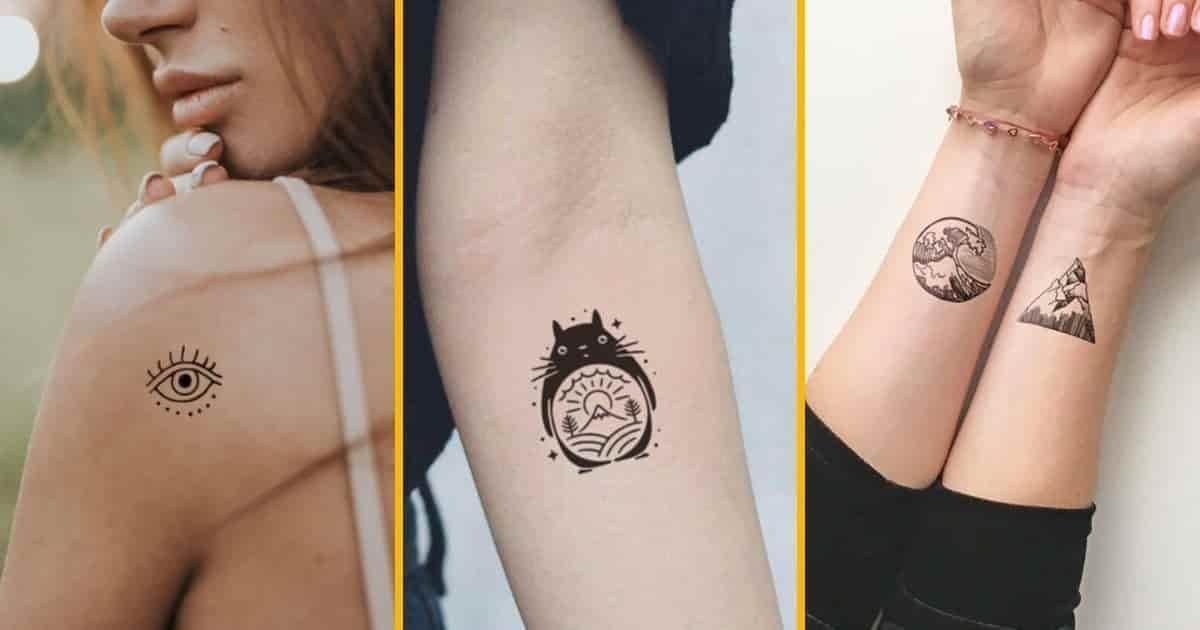 Top 30+ tatouages éphémères minimalistes, pour ceux qui aiment les trais fins